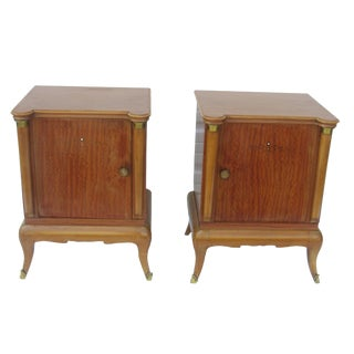 1950s French Maple Nightstands - A Pair