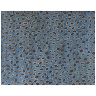 Blue Circle Motif Rug - 8' x 10'