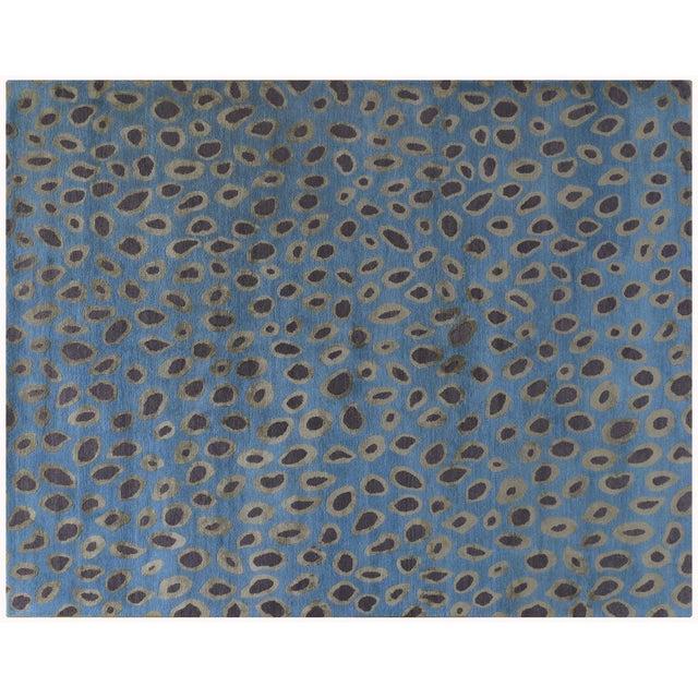 Image of Blue Circle Motif Rug - 8' x 10'