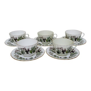 Vintage Royal Worcester Cups & Saucers - 10 Pieces