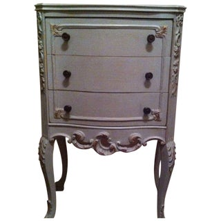 Antique Shabby Italian Bed Side/End Table