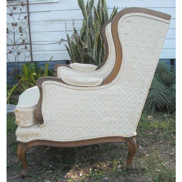 Image of Vintage French Bergere Chair Wingback - Pair
