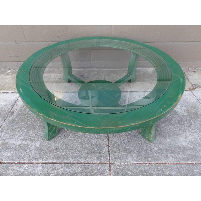 Paul Frankl Green Cerused Coffee Table - Image 5 of 6