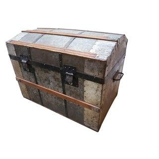 Antique Zinc Steamer Trunk