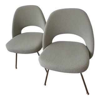 Eero Saarinen Executive Armless Chairs - A Pair