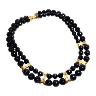 Napier Black & Gold Bead Necklace