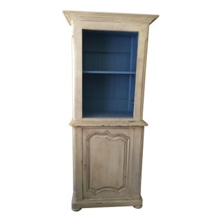 Vintage French White & Blue Armoire