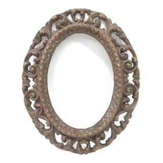 Brass Framed Victorian Mirror