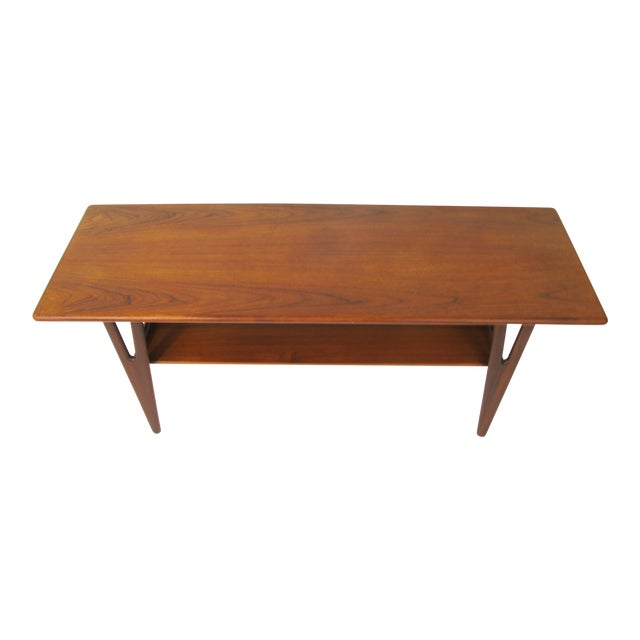 Danish Modern V-Leg Teak Coffee Table | Chairish