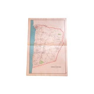 Antique Greenburgh New York Map