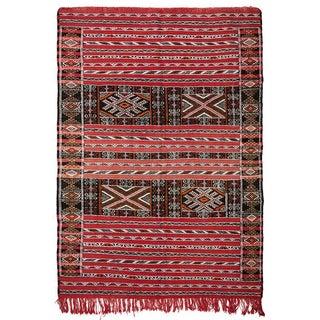 """Vintage Moroccan Rug - 4'4"""" x 6'2"""""""