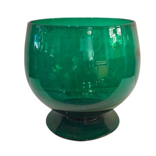 Vintage Emerald Colored Glass Bowl