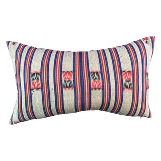 Naga Hill Tribe Woven Textile Pillow