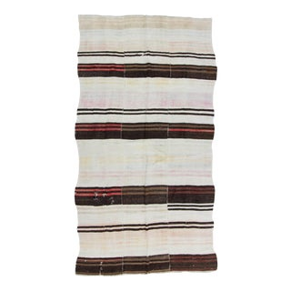 Vintage Turkish Hemp Striped Kilim Rug - 6′2″ × 11′2″