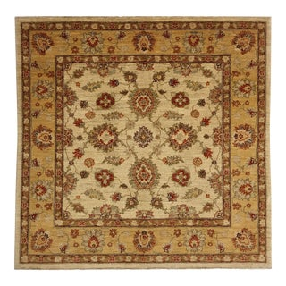 Turkish Oushak Hand Knotted Square Area Rug - 5′ × 5′4″