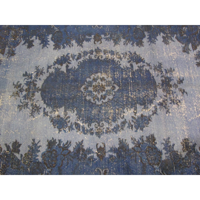 "Vintage Overdyed Turkish Rug - 6'6"" X 9'10"" - Image 6 of 6"