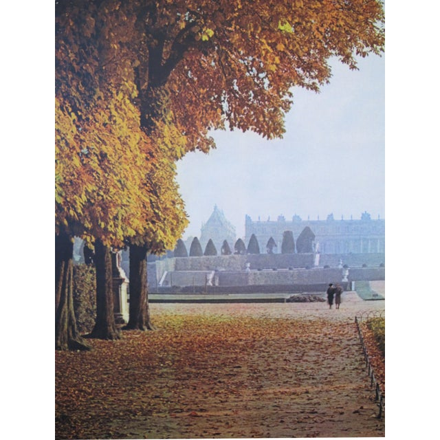Image of 1950s French Travel, Autumn Versailles park