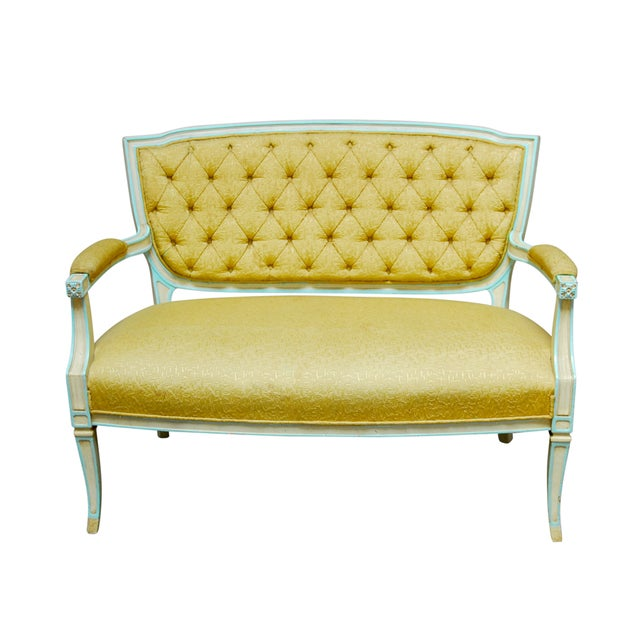 French Louis XVI Painted Canape Settee - Image 1 of 6