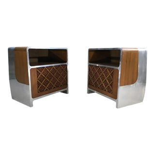 Space Age Bauhaus Stereo Console Cabinets - A Pair
