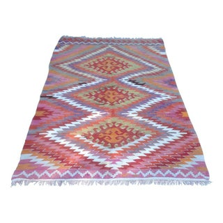 Colorful Turkish Kilim Rug