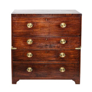 1910 Campaign Mahogany Chest