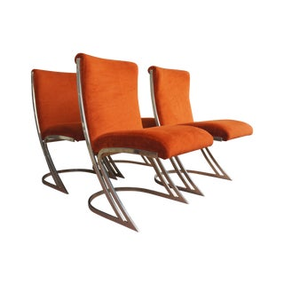 Pierre Cardin Z Brass Cantilever Dining Chairs