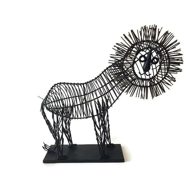 Mid Century Iconic Lion Sculpture, C. Jere Style - Image 4 of 6