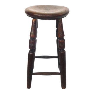 Early 19th c. English Walnut Pub Stool