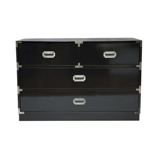 Black Lacquered Campaign Chest