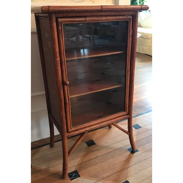 Wicker and Bamboo Maitland Smith Cabinet - Image 2 of 9