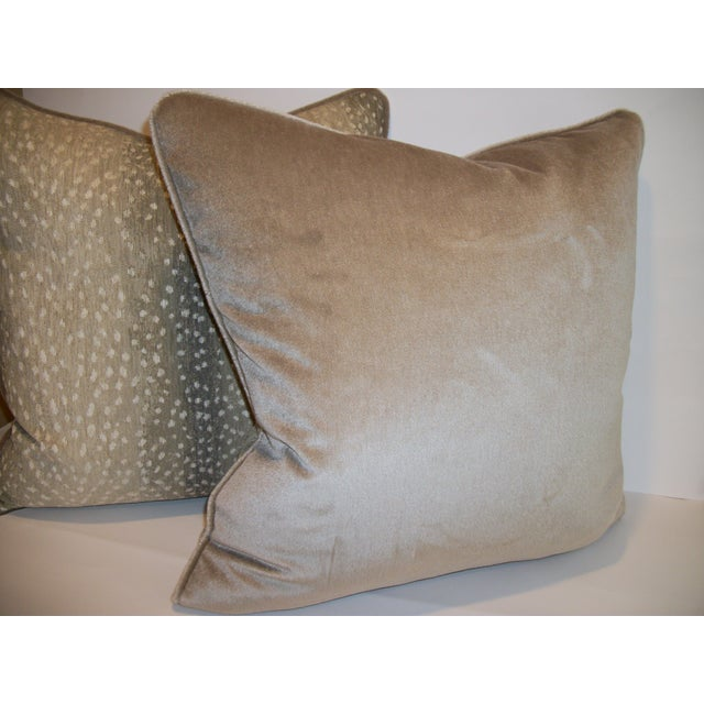 Image of Woven Antelope Pillows with Mohair - A Pair