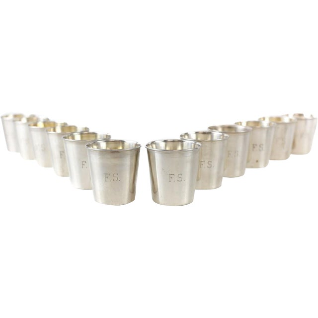 JB & SM Knowles Sterling Silver Shot Jigger Cups #G58 by Udall & Ballou, 1920 - Set of 12 - Image 2 of 5