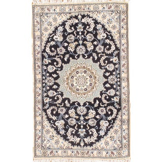 "Persian Nain Silk & Wool Rug - 2'11"" x 4'8"""
