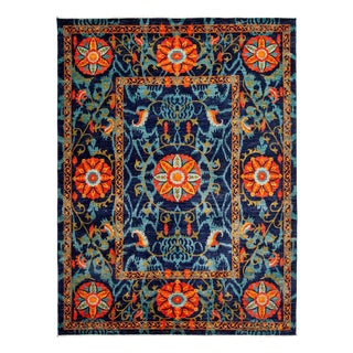 "Suzani, Hand Knotted Area Rug - 9' 2"" X 12' 4"""