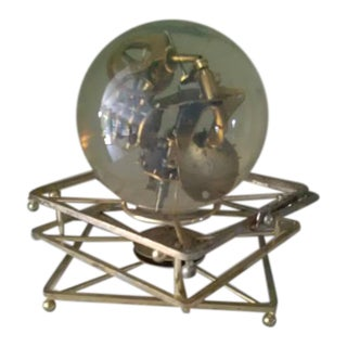 Vintage 1960's Lucite Mechanical Art Ball