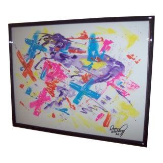 "Dawn Walling ""Voulez Jouer?"" Original Mixed Media Painting"