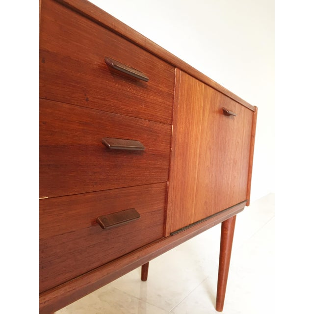 Image of Vintage Danish Modern Teak Mini Chest Cabinet