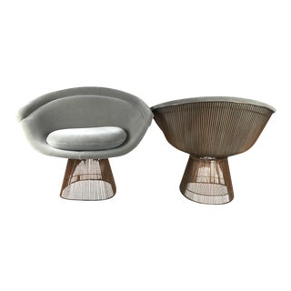 Warren Platner Copper Lounge Chairs