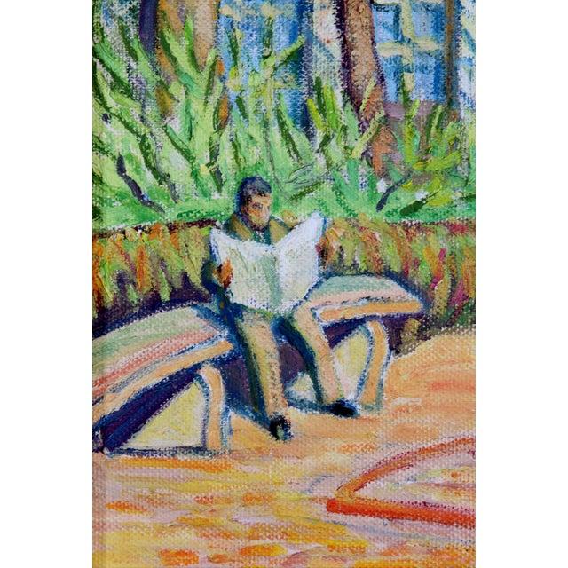 Main Street Oil Painting C. 1940 - Image 3 of 5