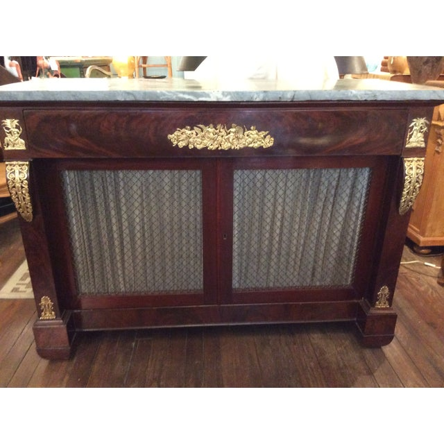 Gray Marble Top Credenza - Image 2 of 6