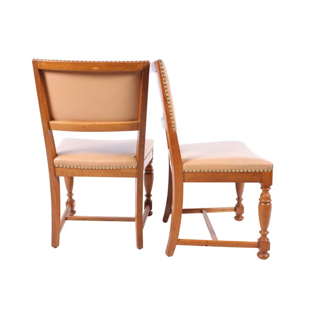 Image of 1940s Jacobean-Style Chairs - Set of 4