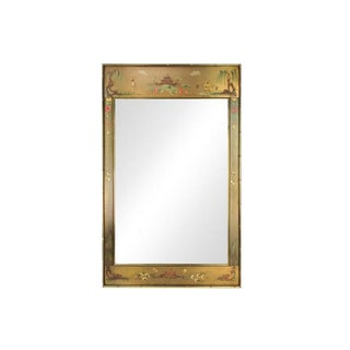 Italian Brass Chinoiserie Mirror w/ Faux Bamboo Frame