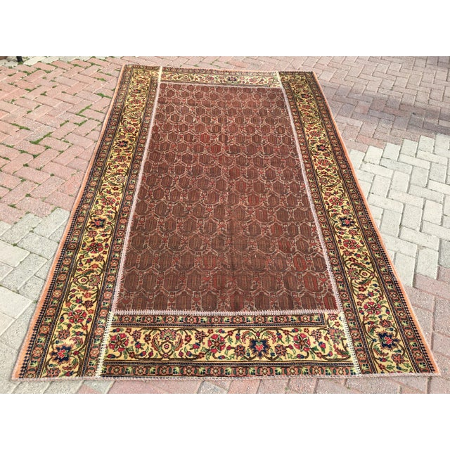 "Image of Vintage Turkish Patchwork Rug - 5'5"" X 8'10"""