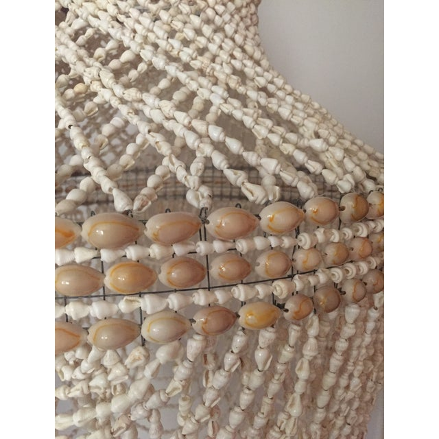 Beaded Shell Chandelier Lantern - Image 6 of 7