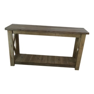 TG Design Rustic Style Console Table