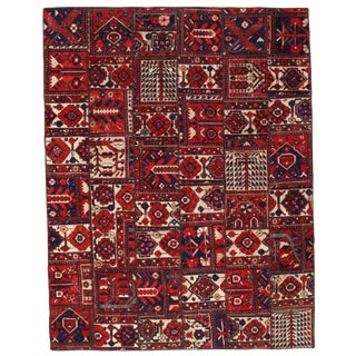 Pasargad Persian Patch-Work Decorative Hand Knotted Area Rug - 6'x7'9""
