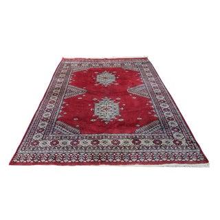 "Persian Balouch Baluch Wool Rug - 4' x 6'1"""