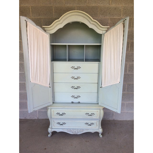 Hickory White French Provincial Armoire - Image 5 of 11
