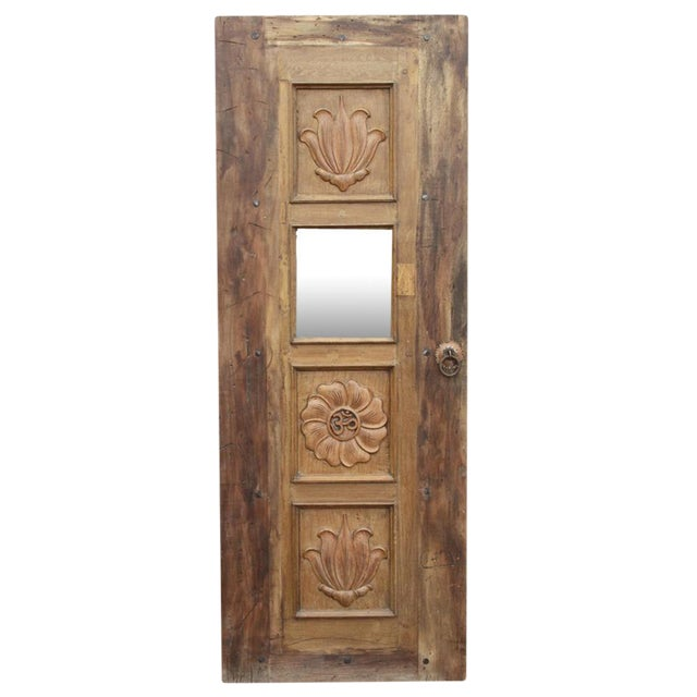 Image of Lotus Teak Mirrored Door