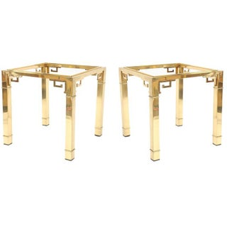 Mastercraft Greek Key Side Tables - A Pair